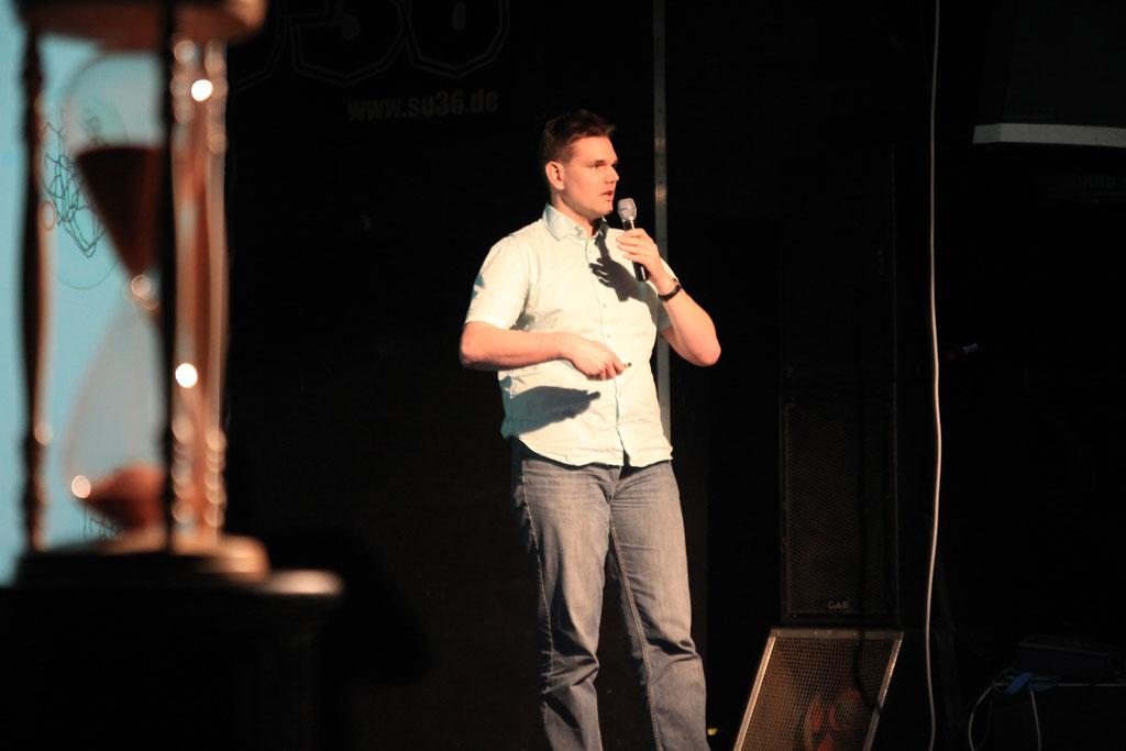 Rüdiger Hauck beim #32 Science Slam Berlin